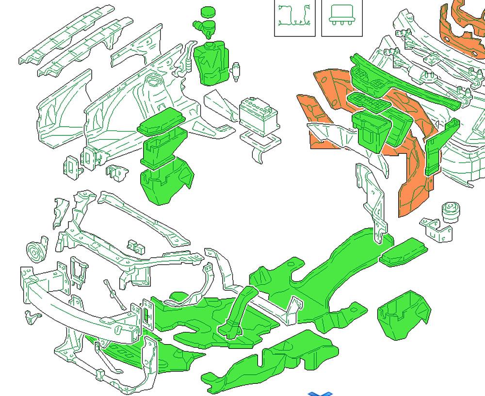 Audatex Grafik Karosserie Innen